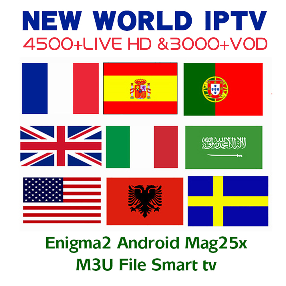 IPTV Europe Nordic Israel Sweden Spain Portugal Italy Dutch UK Arabic IPTV M3U Subscription 4 Android Smart TV Mag Enigma2-in Set-top Boxes from Consumer Electronics
