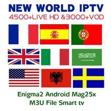 купить IPTV Europe Nordic Israel Sweden Spain Portugal Italy Dutch UK Arabic IPTV M3U Subscription 4 Android Smart TV Mag Enigma2 по цене 457.35 рублей