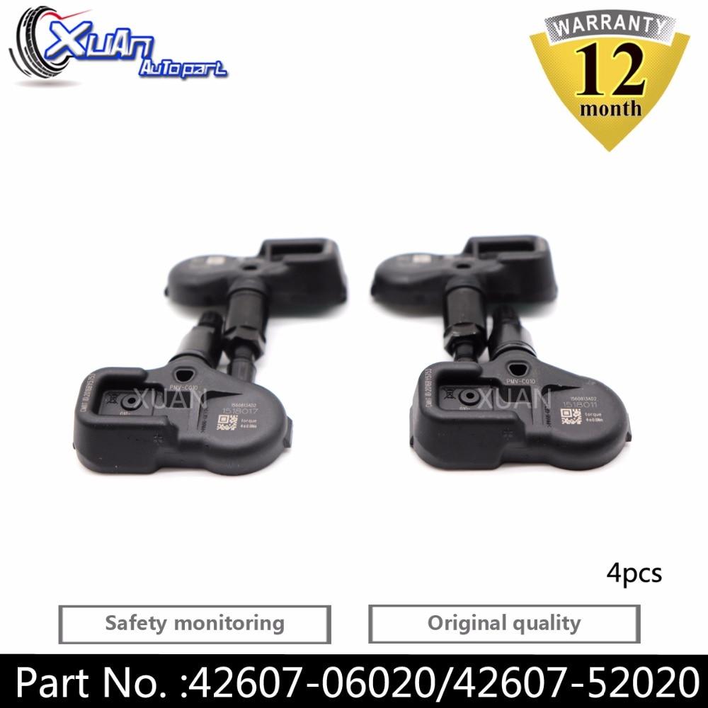 Beliebte Marke Xuan 4 Stücke Reifen Druck Monitor Sensor Tpms Für Scion Im Toyota Avalon Camry Corolla Yaris Rav-4 Highlander Prius C V Prime Hochwertige Materialien