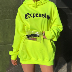 ZADORIN Harajuku Neon Green Hoodies Women Streetwear Long Sleeve Sport Sweatshirt Women Casual Oversized Hoodie jogging femme 4
