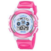Nuevo Reloj Del Deporte Estudiantes Niños Niños Chicos Relojes Niñas Reloj Reloj Electrónico Niño LED Digital Reloj de Pulsera para la Muchacha Del Muchacho