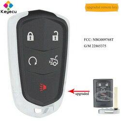 KEYECU ulepszony zmodyfikowany inteligentny zbliżeniowy klucz zdalnie sterowanym samochodowym z 5 btns-fob dla cadillaca SRX ATS XTS 2013 2014  NBG009768T