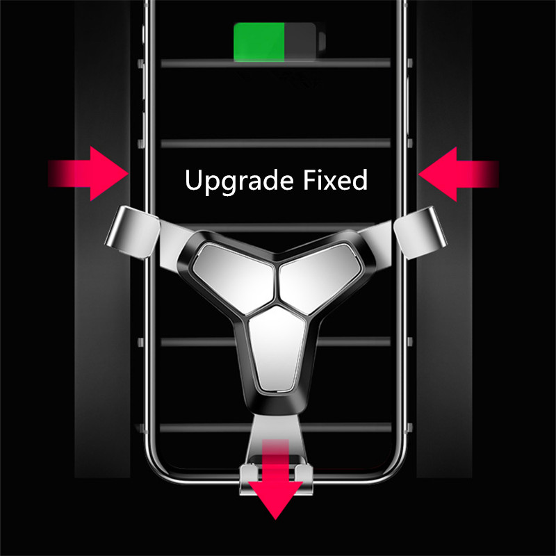 Car Phone Holder For iPhone X Phone In Car Air Vent Mount Stand Gravity No Magnetic Mobile Phone Holder Smartphone Cell Support in Phone Holders Stands from Cellphones Telecommunications