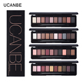 UCANBE Brand High Quality 10 Color Matte Warm Eyeshadow Palette Makeup Set Nude Brick Red Eye Shadow Make Up Sombra with Brush