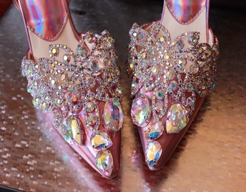 Diamant Chaussures Sandale Dame Slingbacks Femmes Talons Élégant Nude De Pointu Papillon Bling As Partie Hauts Mariage Bout Show Supérieure Cristal qSIRRwn0