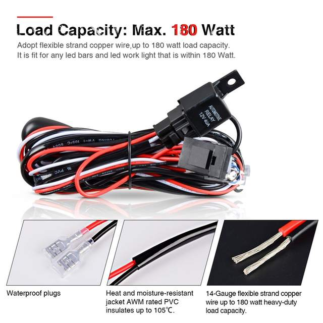 US $10.05 35% OFF 180w 300 watt load capacity with Fuse On off Switch on