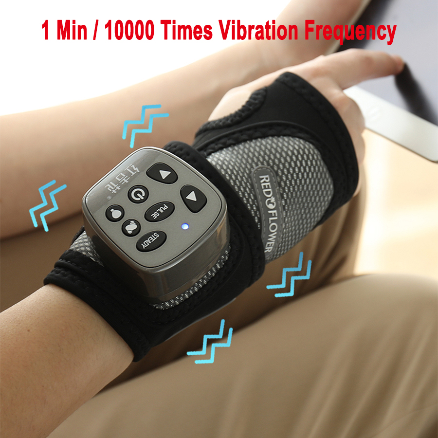 Wireless Multi-frequency Hand Massager Wrist Joint Massage Ligament Strain Repair Meridian Kneading Physiotherapy Hot Compress dynamic bodyuse for effective strain free massage