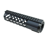 Funpowerland Keymod Tactical 7'' Carbine Free Floating Handguard Mount Bracket with Detachable Rails BLACK Free Shipping