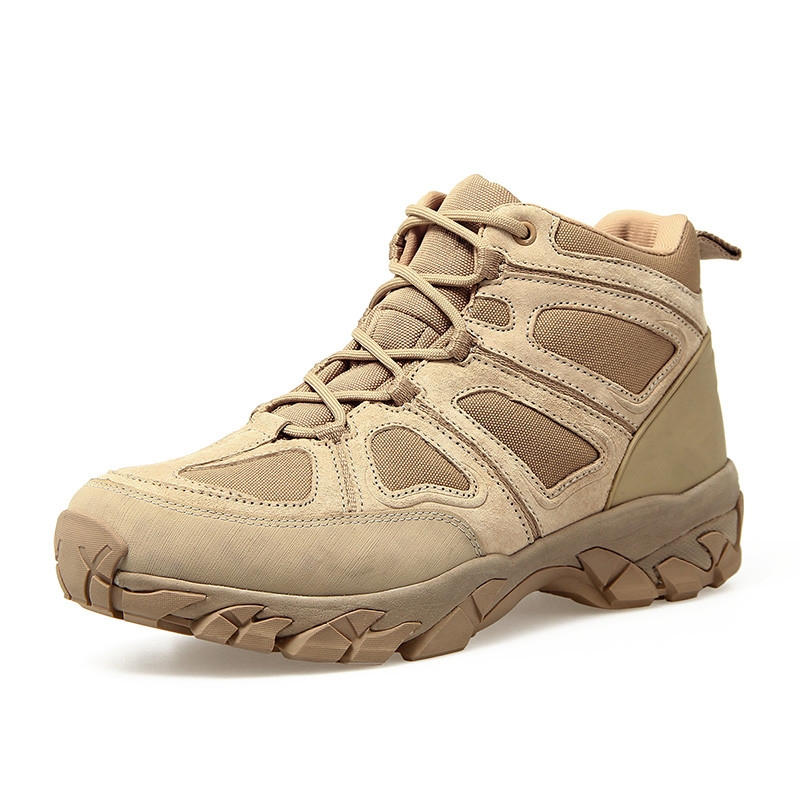 Men s Outdoor Hunting Hiking Mountain Non slip Lace Up Mesh Breathable Ankle High Boots Tactical Army Desert Sport Shoes boot breathable lace up men outdoor hiking shoes