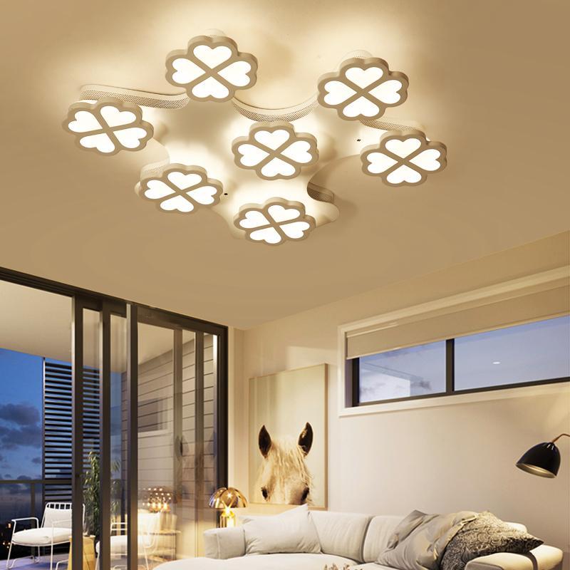 AC90-265V modern LED ceiling chandelier living room bedroom decorative lamps plum-shaped dimming chandelierAC90-265V modern LED ceiling chandelier living room bedroom decorative lamps plum-shaped dimming chandelier