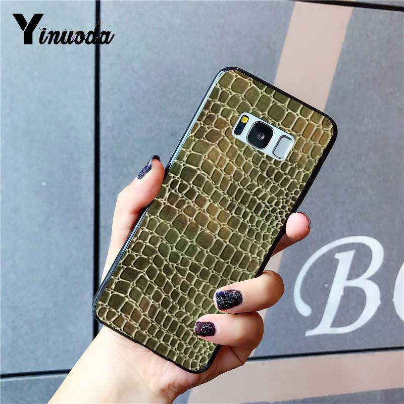 Yinuoda Snake Skin DIY Printing Drawing Phone Case for Samsung Galaxy S8 S7 edge S6 edge plus S5 S9 Pluscase in Half wrapped Cases from Cellphones Telecommunications
