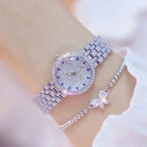 Image 1 - Kadın saatler ünlü lüks markalar elmas gümüş kadın kol saati küçük arama bayanlar bilek saatler Relogio Feminino 2020