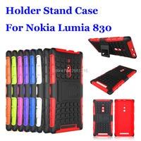 For Lumia 830 Shockproof Soft TPU & Hard PC Dual Armor Back Case Stand Holder Cover For Nokia Lumia 830 5.0