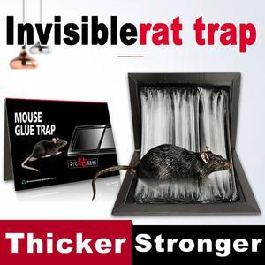 Image 2 - Nouveau Invisible collant souris colle conseil tueur Rat piège arachide odeur noir piège à souris