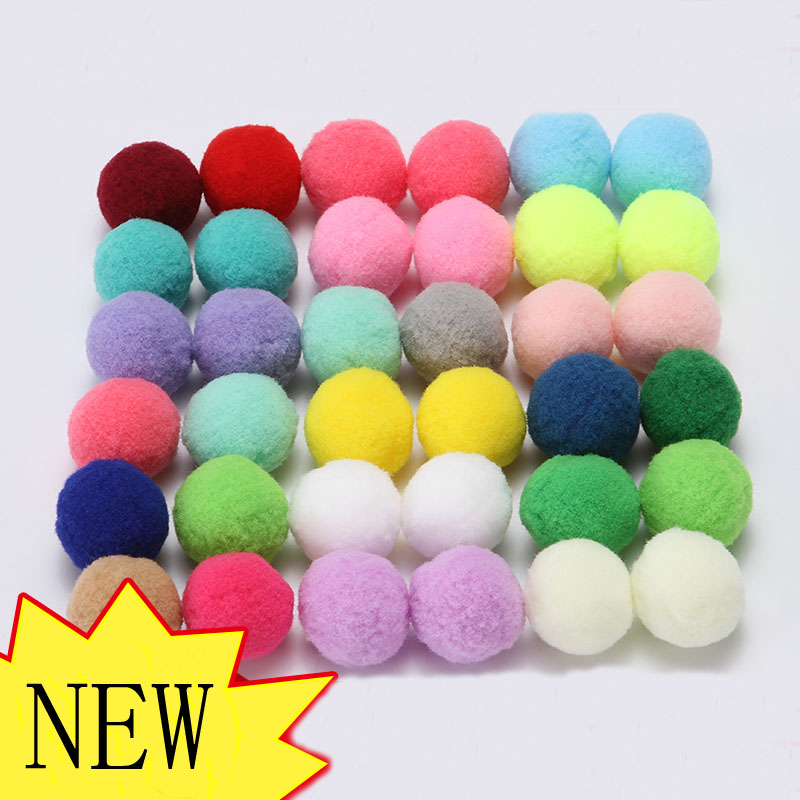 10pcs 30mm Colors Round Felt Balls Pom Poms For DIY Girls Room Party Supplies Wedding Decoration Felt Ball Accessories