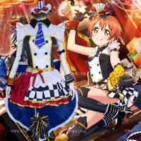 LoveLive Coffee Shop Hoshizora Rin Cosplay Costume Love Live Cafe Maid Uniform Suit Japanese Anime Clothes