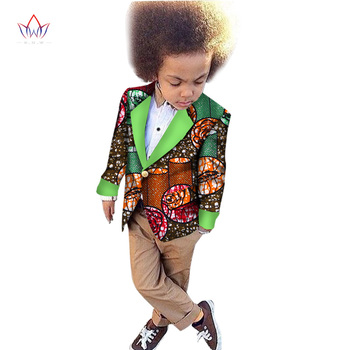 2018 African Clothing kids dashiki Traditional cotton coat Matching Africa Print Children top baby clothes cotton BRW WYT47
