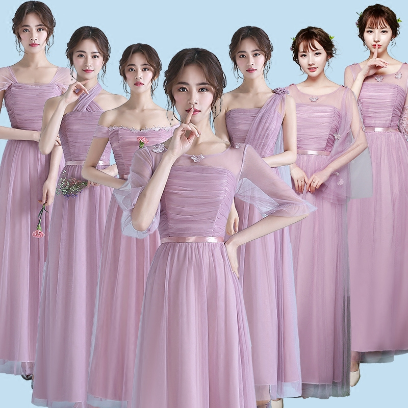 A Line Chiffon Bridesmaid Dress Boat Neck Off The Shoulder Dresses Long Dresses For Wedding Party Tengda Bruidsmeisje Jurk