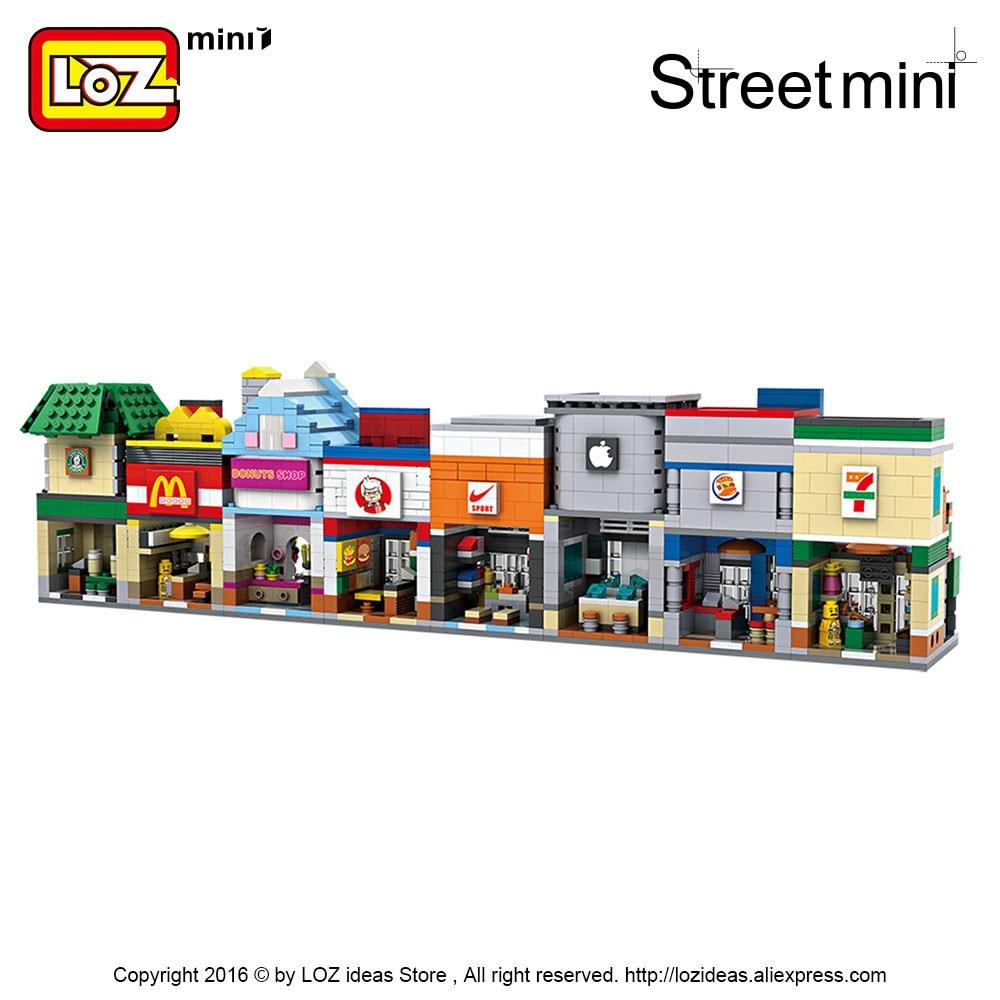 LOZ Blocks City Mini Street Bricks Set Arkitektur Byggstenar - Byggklossar och byggleksaker - Foto 3