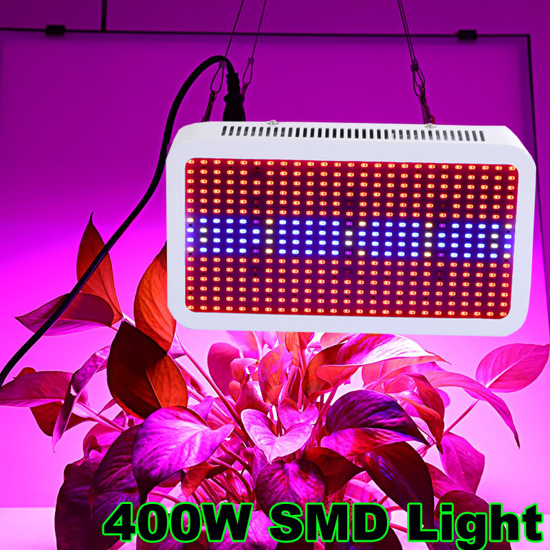 Full Spectrum 400W LED Grow Light Red Blue White UV IR AC85~265V SMD 5730 Led Plant Lamps Best For Plants Growing and Flowering full spectrum 600w led grow light double chips red blue white uv ir ac85 265v led plant lamps best for growing and flowering
