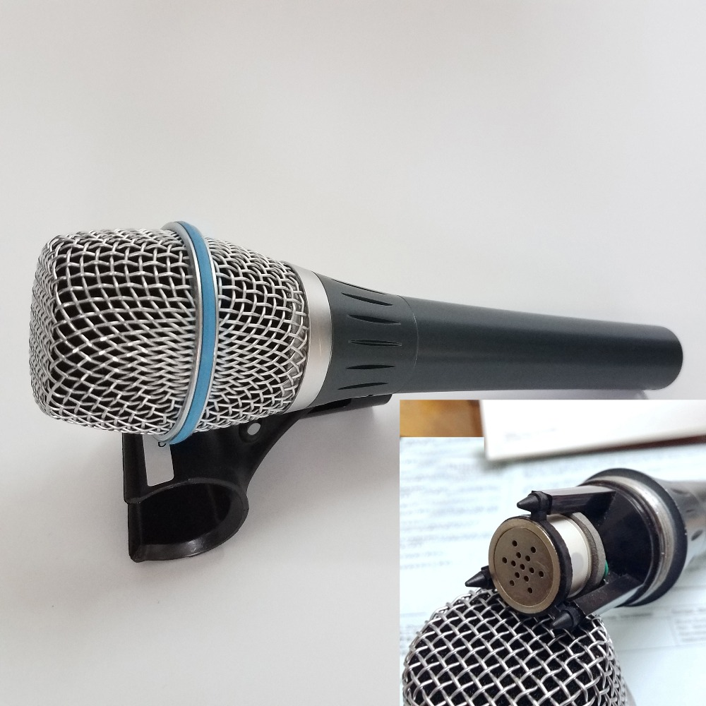 Condenser Professional Microphone 87A Pro wired vocal condenser mic microphone supercardioid Wire microfono free shippping