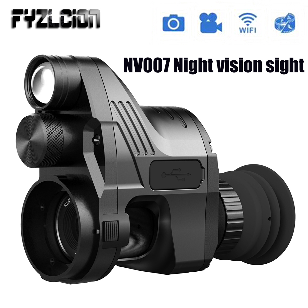 Fyzlcion NV007 Night vision Sight Modified Infrared Night vision Tactical Riflescope Cameras Wifi Day and Night Use Hunting hot selling upgrade outdoor hunting optics sight tactical digital infrared night vision riflescope use in day and night