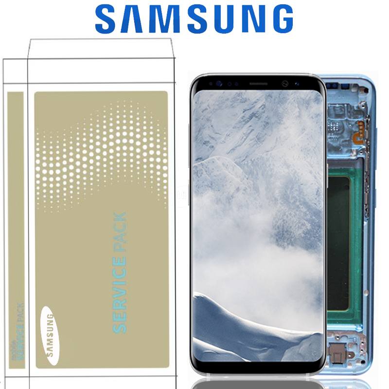 HTB1Eh.GUCzqK1RjSZFHq6z3CpXar Original Burn-Shadow Replacment For Samsung Galaxy S8 G950F G950U LCD S8 Plus G955 G955F Display Screen Touch Digitizer Assembly