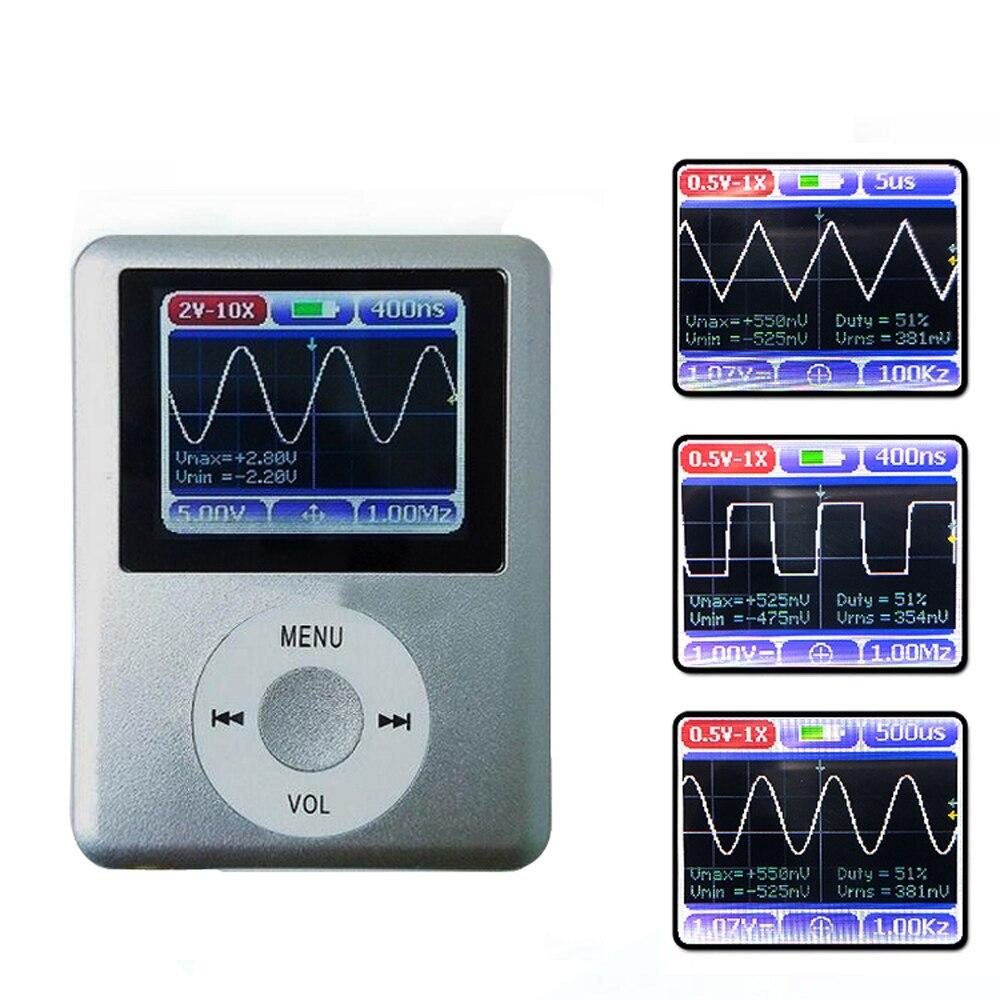 Oscilloscope numérique bricolage Oscilloscopes écran d'affichage couleur Portable Mini Oscilloscope bande passante 20 mhz avec câble de données Usb