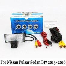 Для Nissan Pulsar B17 Седан 2013 ~ 2016/RCA AUX Проводной Или Беспроводной/HD Широкоугольный Объектив CCD Автомобиля Ночного Видения Камера Заднего вида