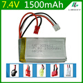 7.4V 1500mAh  Lipo battery For WLtoys V913 L959 L202 days Yi TY923 Huajun HJ817 HJ816 903462 SM/JST/ T Plug Toy Battery