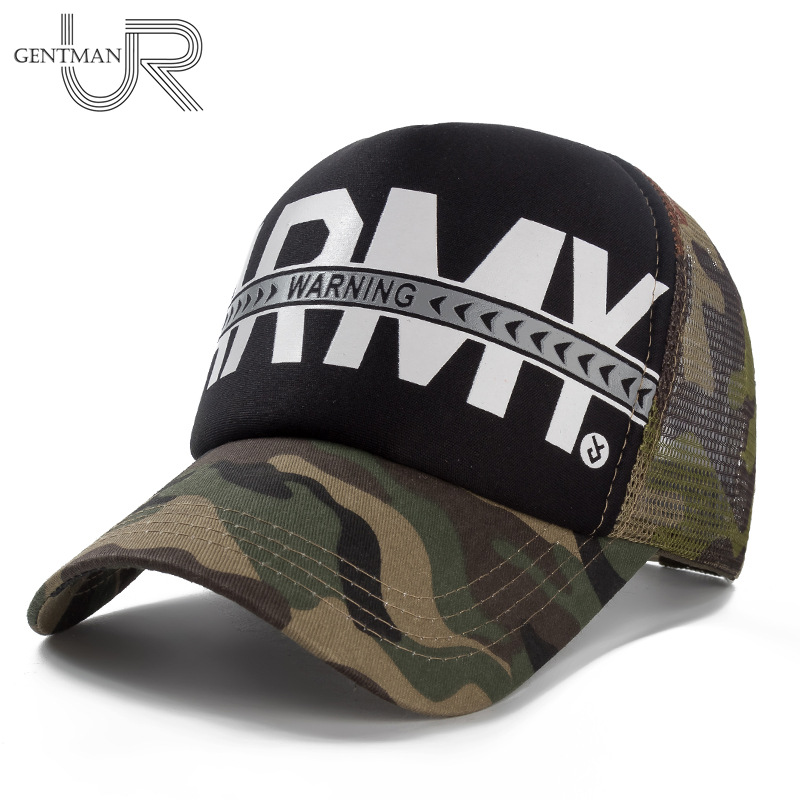 New Unisex Cap Army Warning Printing Baseball Cap Men Women Casual Camouflage Cooling Hat Cap Streetwear Army Snapback Hat