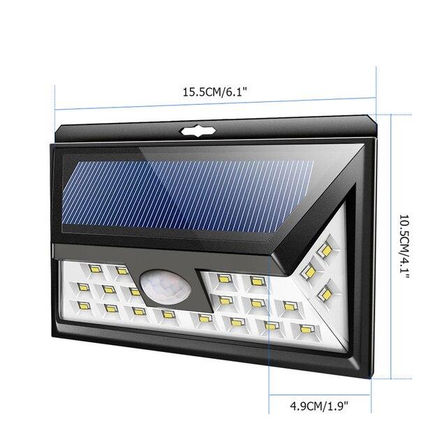 6PCS/Lot free shipping solar led light garden light outdoor lighting 24 LEDs motion sensor LED Spotlight Solar Powered Light