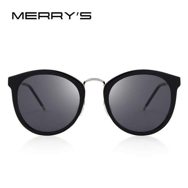 9b410160a7 placeholder MERRY S Women Brand Designer Cat Eye Sunglasses Fashion Polarized  Sun Glasses Metal Temple 100% UV