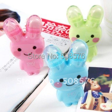 Cartoon Rabbit correction tape +Rubber eraser Lovely staionery 30Pcs/Lot FreeShipping