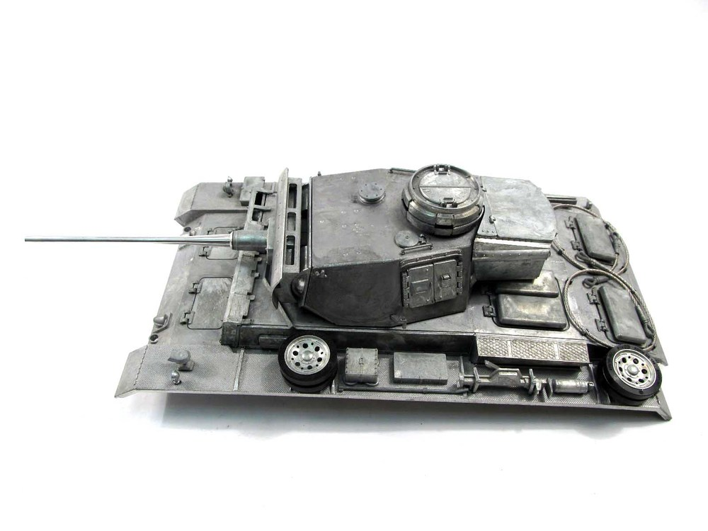 Mato Metal upper hull with turret for  1/16 1:16 RC Panzer III  tank, metal upgraded parts mato metal turret 1 16 m4a3 75 w sherman for mato 1230 100