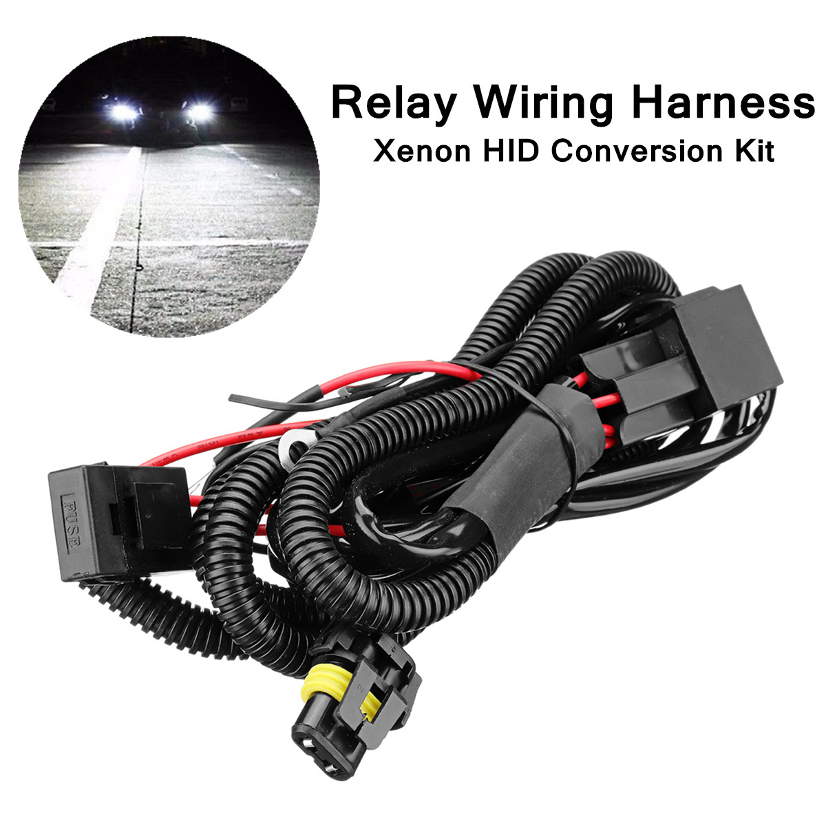 US $7.02 54% OFF|Relay Wiring Harness Xenon HID Conversion Kit For on