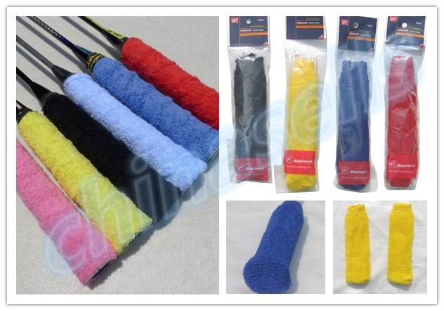 1pairs Towel Tennis Overgrips Anti-skid Sweat tape Absorbed Wraps Badminton Racquet OverGrip Fishing Skidproof Sweat Band grip