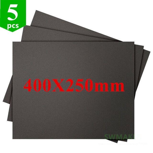 5 pcs 400x250mm impressao 3d construir superficie adesivo abs para tevo viuva preta impressora 3d quadrado