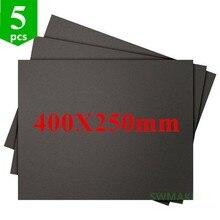 5pcs 400X250mm 3D Printing สร้างพื้นผิวสติกเกอร์ ABS สำหรับ TEVO Black Widow 3D เครื่องพิมพ์สแควร์สีดำแผ่น Super STICK แผ่น