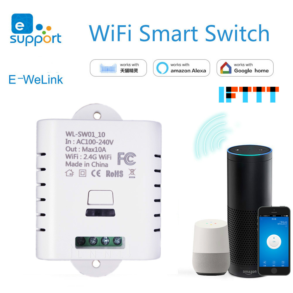 Intelligent switch WiFi lamp refit remote remote timing switch Alexa GoogleHome 10A /16Apower