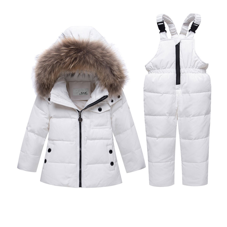 Christmas Winter Jacket Kids Snowsuit Baby Boy Girl Parka Coat Down Jackets For Girls Child Overalls Kids Clothing Set Outfits pcora down jacket for girls winter female child outwear khaki warm girl clothing size 3t 14t 2017 pink parka coat for baby girls