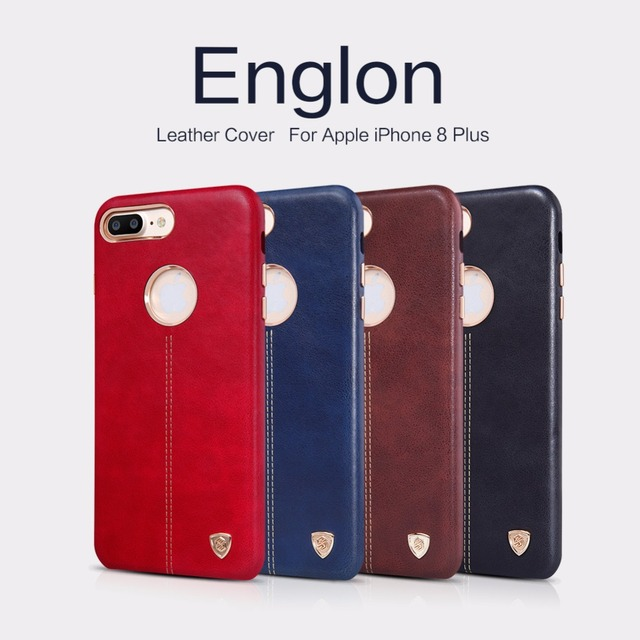 new style 5c1fb be5c7 US $11.01 5% OFF|Original NILLKIN Englon Series Leather Cover For Apple  iPhone 8 / 8 Plus Case For Apple iPhone 8 / 8 Plus 8Plus Phone Back  Shell-in ...