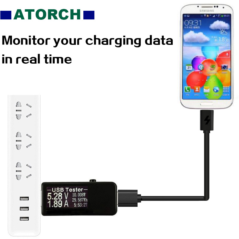 ATORCH Micro USB Cable Fast Charging USB Data Sync Charger Cable Mobile Phone Cable USB tester for Samsung Xiaomi OnePlus Huawei in Mobile Phone Chargers from Cellphones Telecommunications