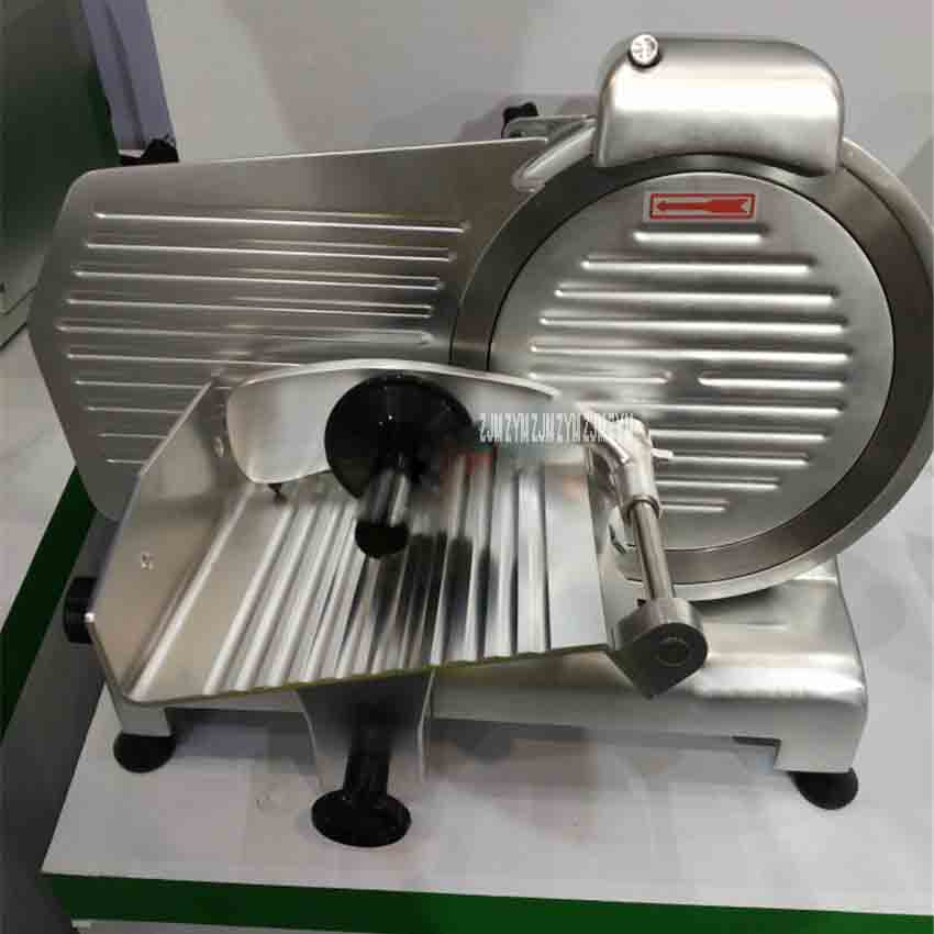 12-zoll Slicer Elektrische Schneidemaschine Hammel Rolle Gefroren Rindfleisch Schneide Lamm Gemüse Schneiden Edelstahl Fleischwolf 0-12mm Es-12