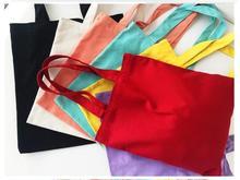 купить 2017 brief solid color canvas bag female one shoulder casual handbag large bag cloth bags zipper дешево