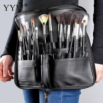 PU Cosmetic Makeup Brush Apron Bag Professional Artist Designer Belt Strap Black Make Up Brush Holder Cosmetic Tool Organizer 1