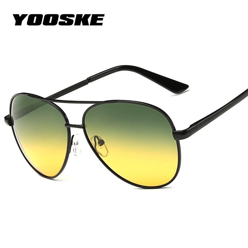 4b9ab87b2216a YOOSKE Clássico Dia de Visão Noturna HD óculos de Sol Das Mulheres ...