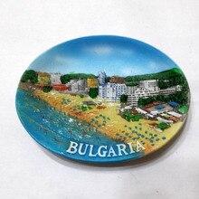 Болгарийский Туризм на память на холодильник с овальным видом творческие магнитные наклейки магниты на холодильник