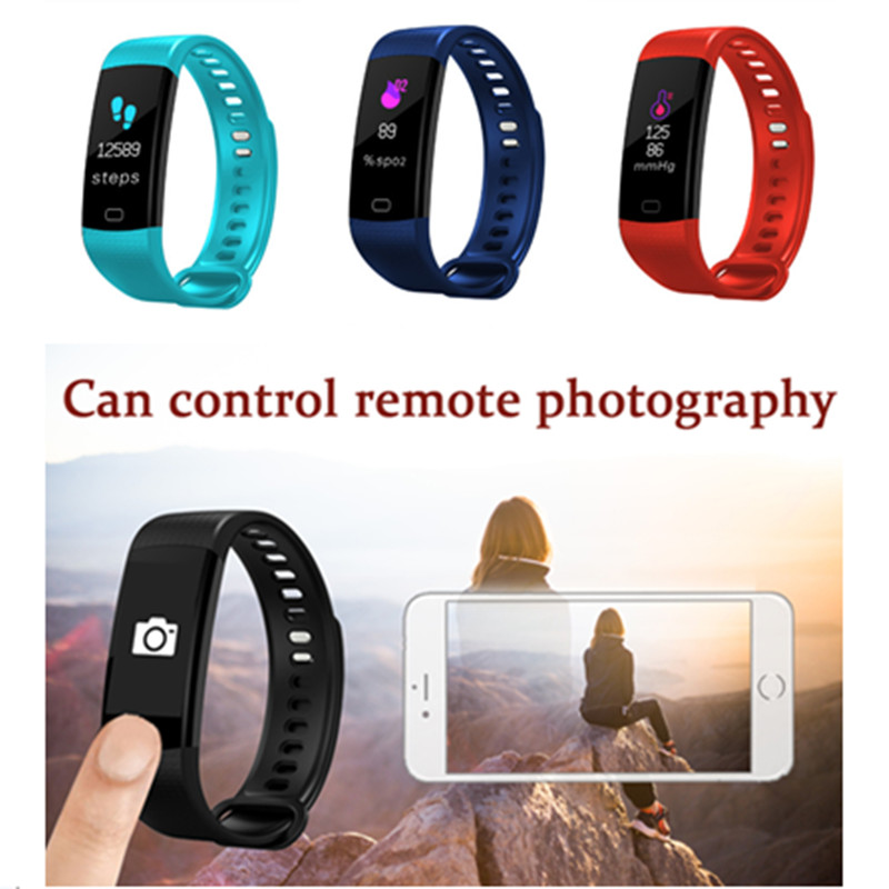 LYKRY Y5 Smartwatch LED Color Screen Watch Health Pedometer Electronic Smart Bracelet Women Men Running Climbing Sport Watch(China)