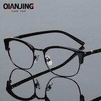 QIANJING Brand New Fashion Style High End Optics Prescription Eyeglasses Frame Men for Plate Frame Glasses Full frames Women